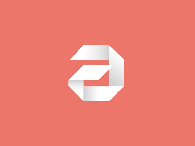 a logo design logo designer geometric minimal paper letter mark initial a letter logo origami logo origami monogram logotype vick ben vick icon mark letter abstract logo a