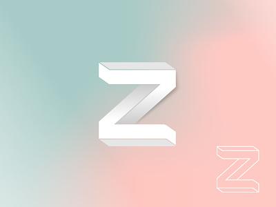 Z type white vick letter lettering lettermark vick ben geomatric monogram symbol mark gradient logo outline logo designer icon brandmark branding letter z logo design