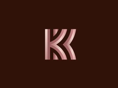 KK logotype letter k logo design minimal abstract monogram sell buy designer symbol logo designer vick ben mark brandmark geometric branding design logo kk