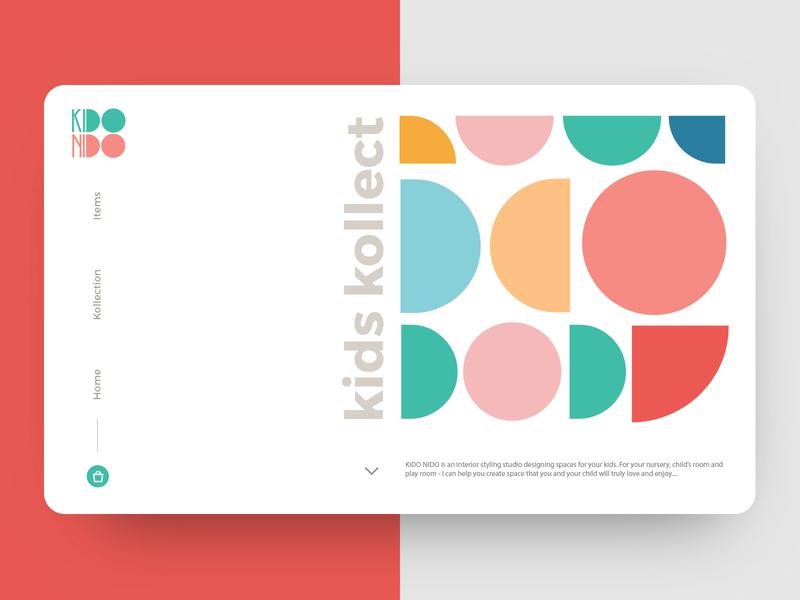 Land Page UI Design uidesign simple minimal web designer logo designer icon logo geometric colorful kids website design webdesign website web ui  ux uiux design landing page interface ui