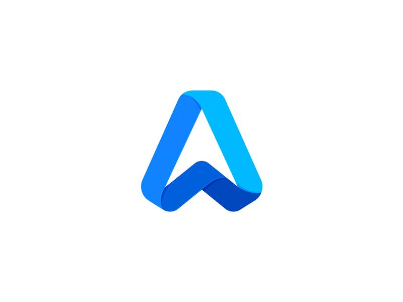 letter A logos blue triangle typogaphy monogram letter abstract letter a a design mark symbol designer logo design logo designer geometric branding brandmark logotype logo