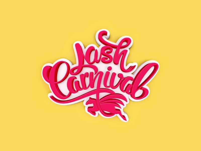 Lash Carnival logotypes logotype hand lettering font sketch carnival script lash vector logo design logo designer custom typography calligraphy illustration 3d designer logo type lettering