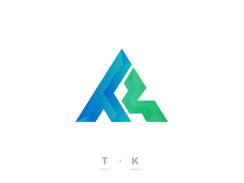 TK triangle alphabet type typeface minimal mark logo design letters designer logo designer geometric brandmark branding logos lettermark logo tk k t letter