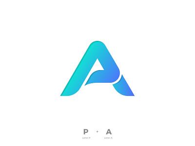 P & A logotype pa ap p bold minimal brandmark branding logo design designer geometric lettermark alphabet logo designer a letter design logo