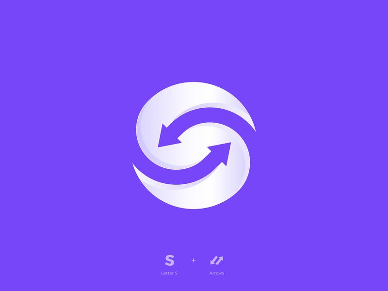 Letter S brandmark minimal geometric symbol monogram a branding designer blend logo designer arrows arrow alphabet mark letter design logo