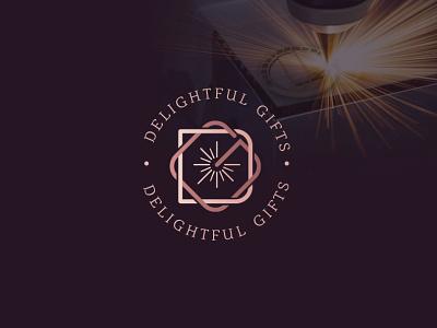 Delightful Gifts Logo Design geometric logo design letters designs logos gifts laser lettermark monogram dg letter g d artist designer design logo gift