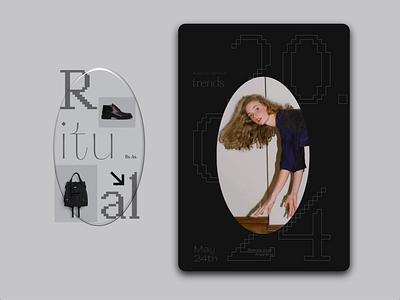 Roomie Fashion Gallery Branding animated type logo grey black poster ipad design identity brand type typography gallery fashion branding animation