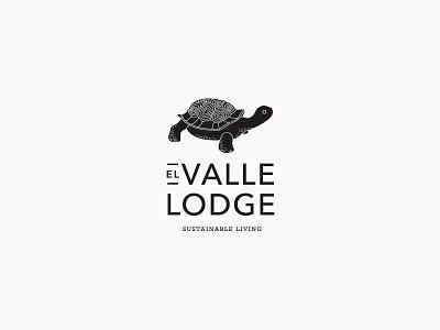 Lodge Branding logotype identity hotel clean tortoise brand vector typography illustration branding design logo