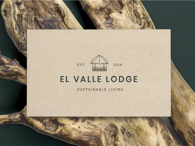 Lodge Branding II logotype identity hotel clean gourmet brand type typography illustration branding design logo