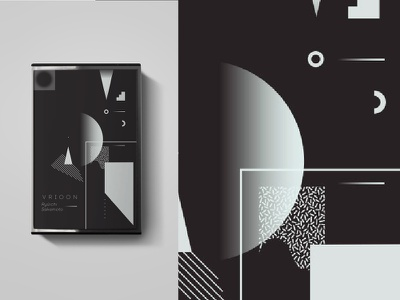 Cassette - Fanmade Music Project geometric design black 2d white flat abstract vector music illustration
