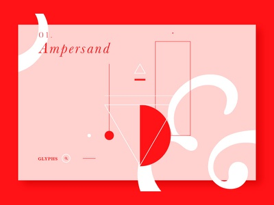 Ampersand vector ux ui typography type home ampersand landing web pink design