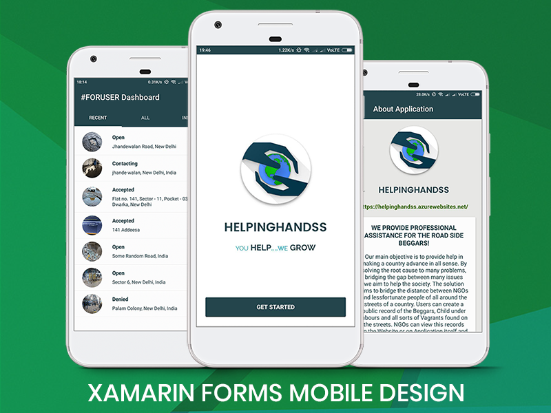 HelpingHandss: Xamarin Forms Application Design by Ankit Passi on