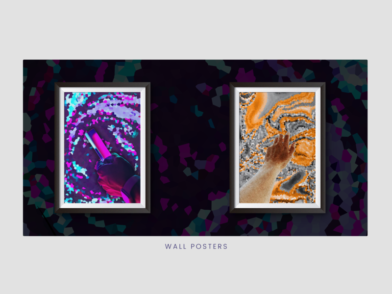 Wall Posters Crystallized Abstract - Showcase abstract art art wall art poster design art wall decor decor bold color abstract ux branding 3d art 3dart vector adobe illustrator typography ui ux adobe illustration design