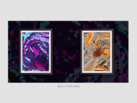 Wall Posters Crystallized Abstract - Showcase