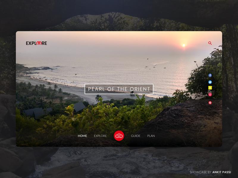 ExploreMore Travel Application - Adobe XD