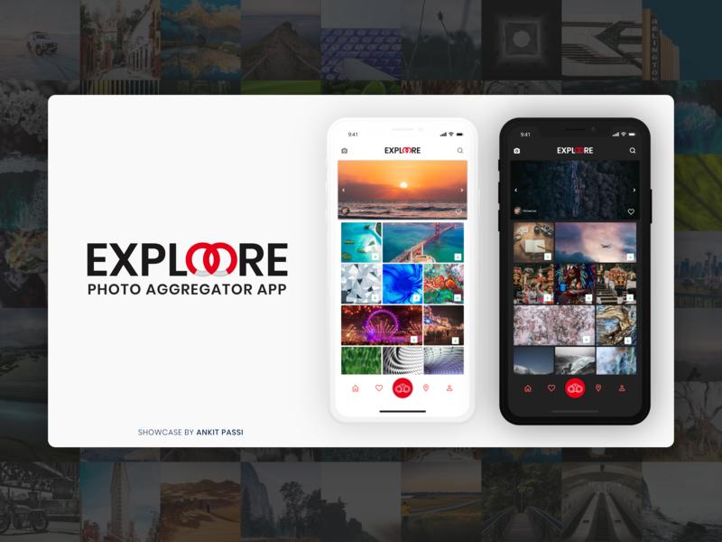 ExploreMore Photo Gallery -Adobe XD