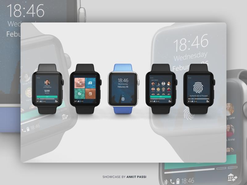 Smartwatch Cash Transfer - Adobe XD