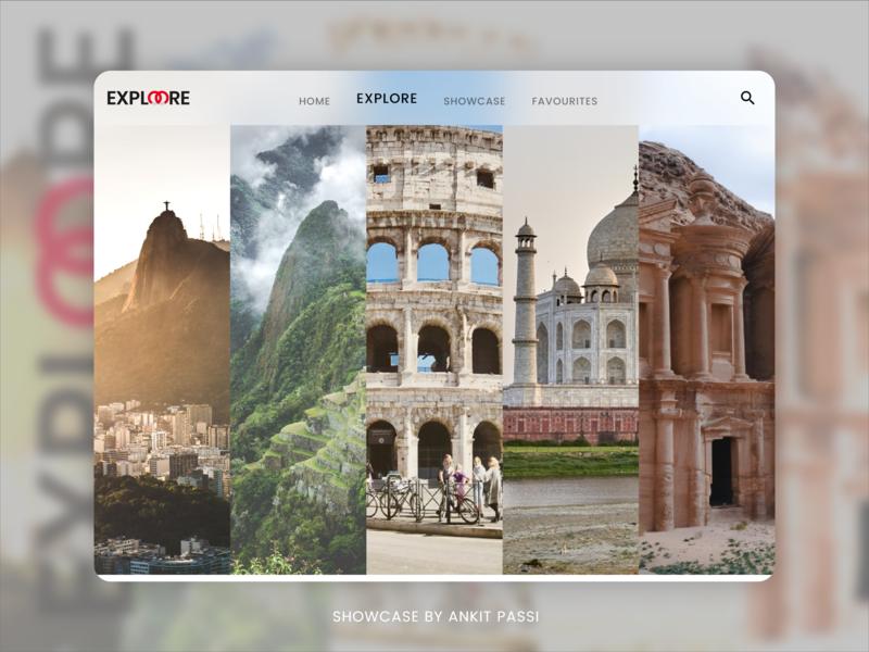 ExploreMore Wonders of World - Adobe XD