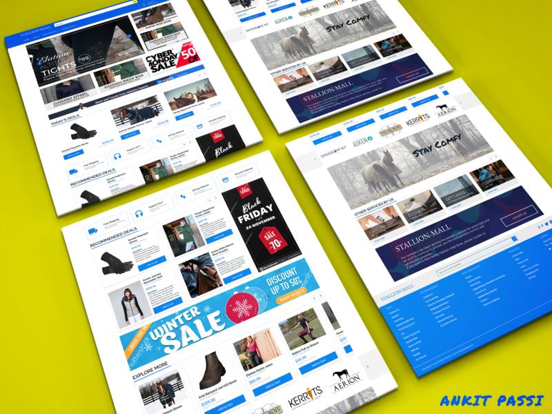 Stallion Mall v2 Landing Page - Adobe XD