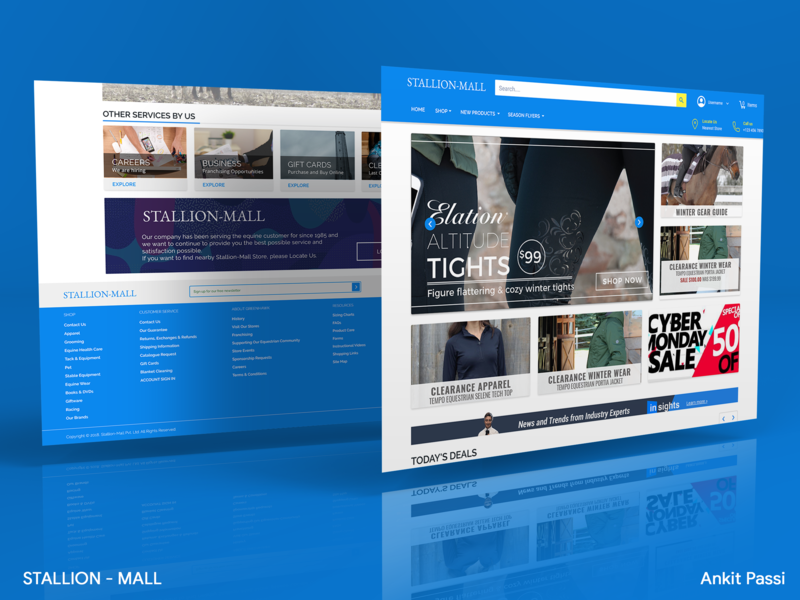 StallionMall v2 - Web Showcase by Ankit Passi on Dribbble
