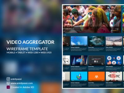 Video Aggregator - Wireframe UI Kit