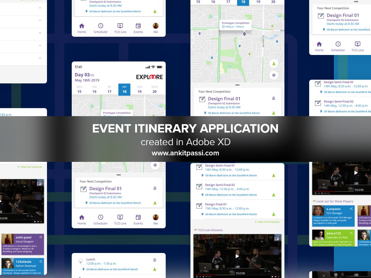 Event Itenary Application - TCO'19