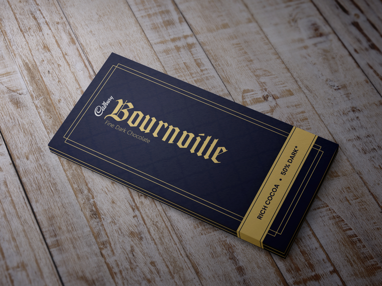 Redesign the Wrapper of Bournville - Royal, Minimal