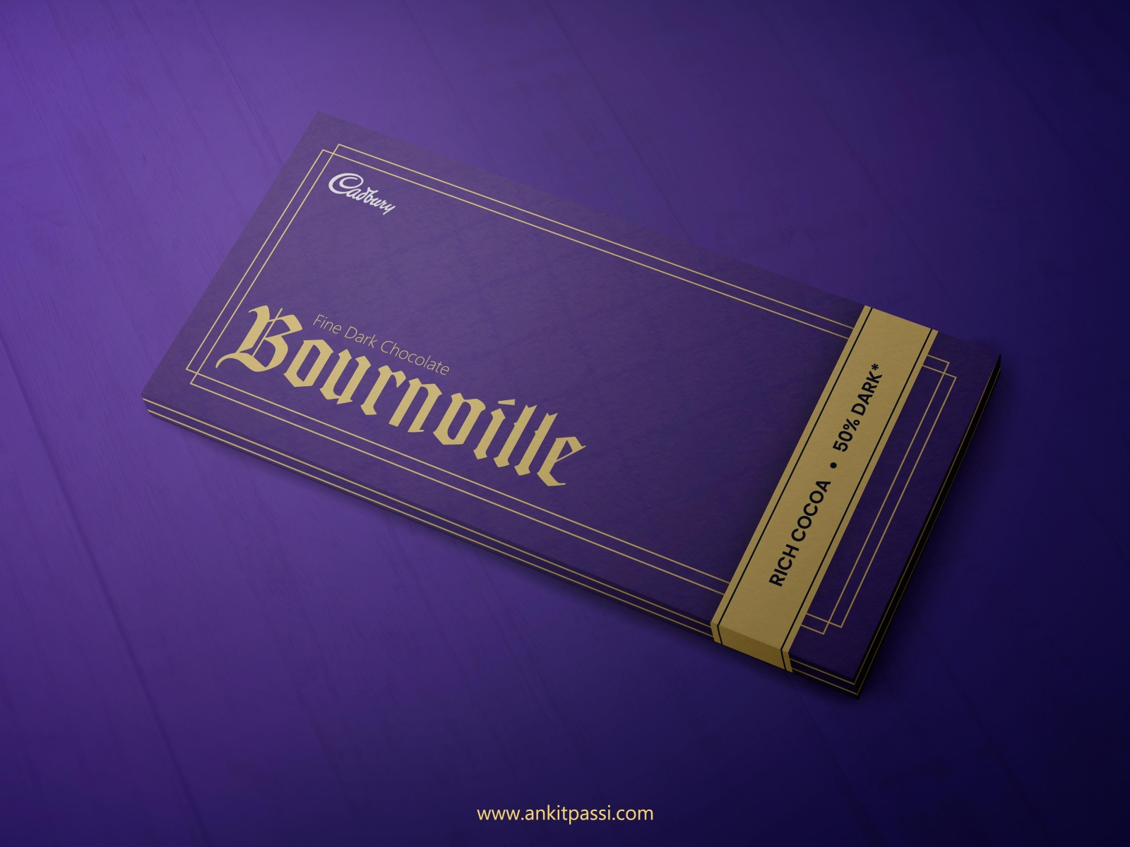 Cadbury's Bournville packaging redesign