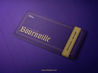 Cadbury's Bournville packaging redesign illustration design mockup chocolate bar chocolate packaging chocolate branding packages package mockup packaging wrapper package packagedesign adobe photoshop adobe illustrator adobe dribbbleweeklywarmup
