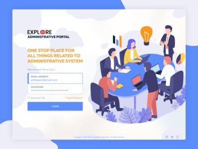 Administrative Portal Login Screen