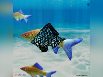 Fish Simulation in Blender Eevee ankitpassi blender render rendering render 3d modelling graphic 3d design blender simulation eevee blender 3d