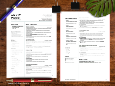Resume Design Challenge