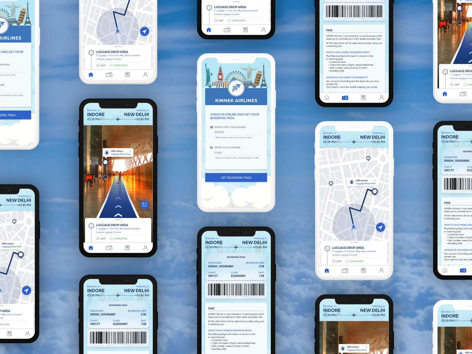 Airline Assistance Application: Adobe XD