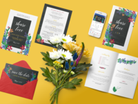 Share Love wedding collateral