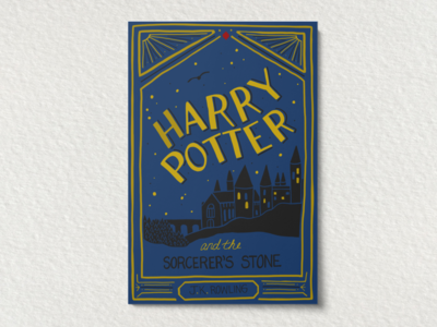 You're Hand Lettered, Harry.
