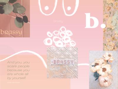 Brassy. collage