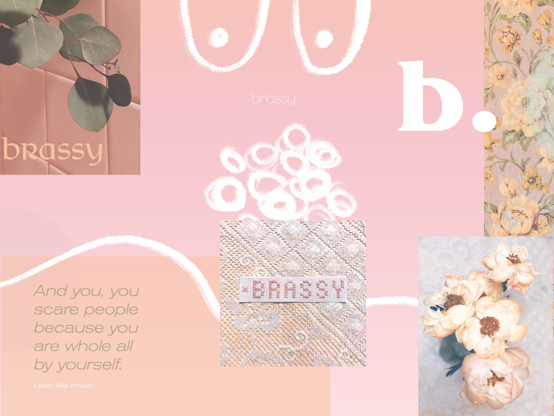 Brassy. collage collage brand identity design brassy personal project