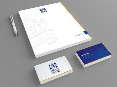 Sudbury Law - Identity Package logo lawyer sudbury law identity business card letterhead mockup