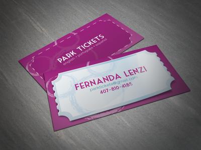 Park Tickets - Business Card Design park ticket fernanda lenzi mickey disney business card design illustrator