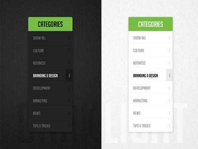 Dark & Light - Sidebar Menu dark light sidebar menu slick texture clean simple designzillas