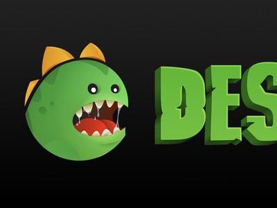 Designzillas identity brand logo variation rebrand dinosaur design illustration