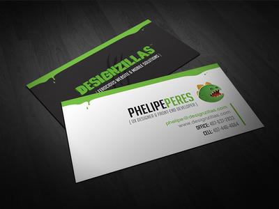 DZ Business Card designzillas business card invitation design dz print card identity dinosaur