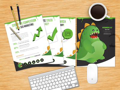 DZ Flyers designzillas flyers identity dz dinosaur print