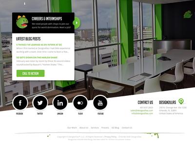Dz Footer website footer dz designzillas photo identity redesign social