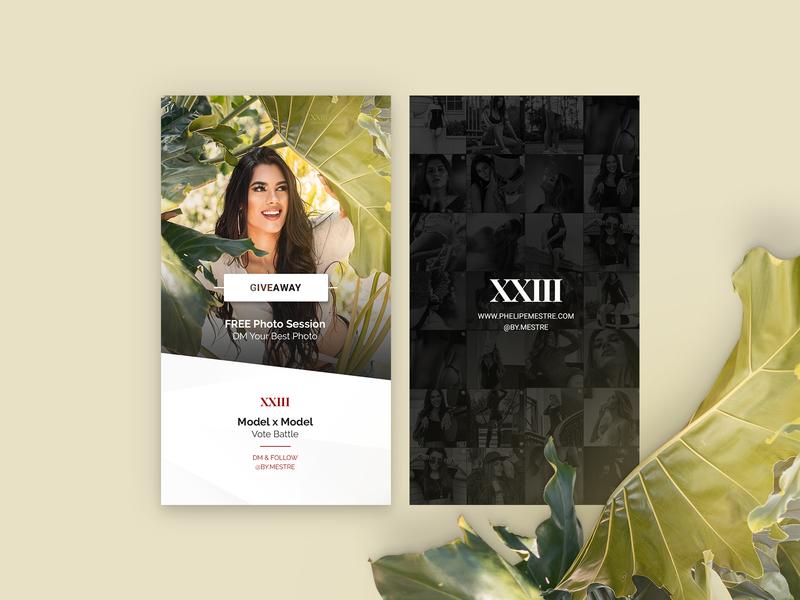 Instagram Story - Giveaway social media branding model mestre xxiii giveaway photography cards story instagram