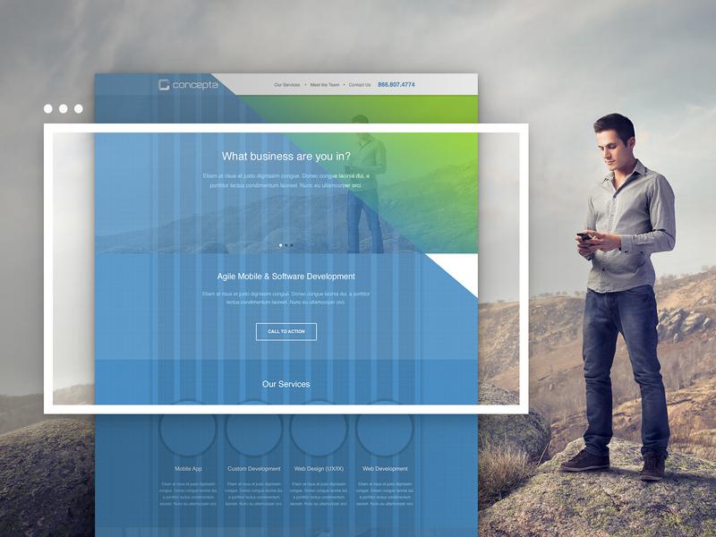 Concepta Wireframe concept agency website wireframe design design ux ui wireframe