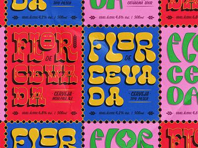 Label - Flor de Cevada typography design lettering label