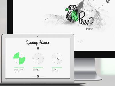 Peep Shop Website