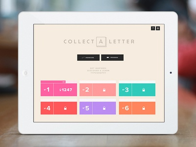 Collect A Letter - iPad Game