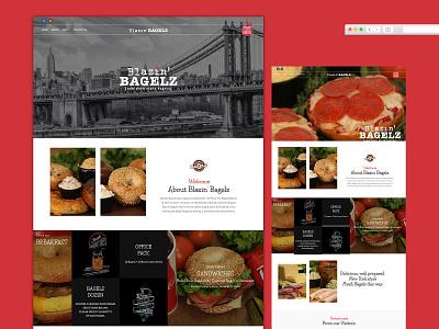 Blazin'Bagelz graphic  design design branding bakery logo bakery mexican illustration bubbadrinks coffee logo webdesign california food bagels